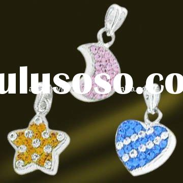 925 Sterling silver pendant crystal jewelry