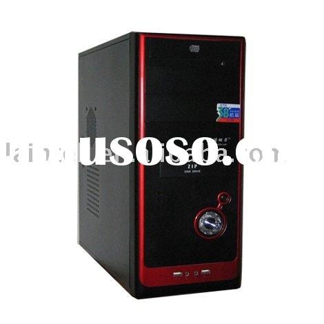 ATX desktop full tower SGCC 0.45mm black pc office computer case with 200w power supply