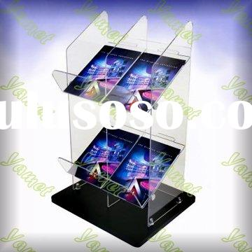 Acrylic Magazine or Tabloid Display Stand