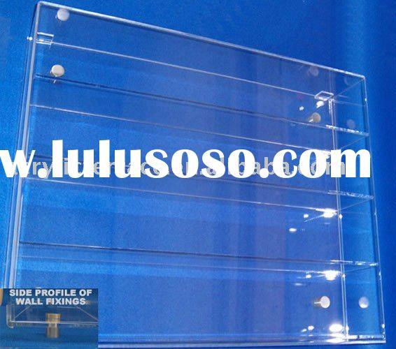 Acrylic Wall Model Car Display Case Whih Shelves