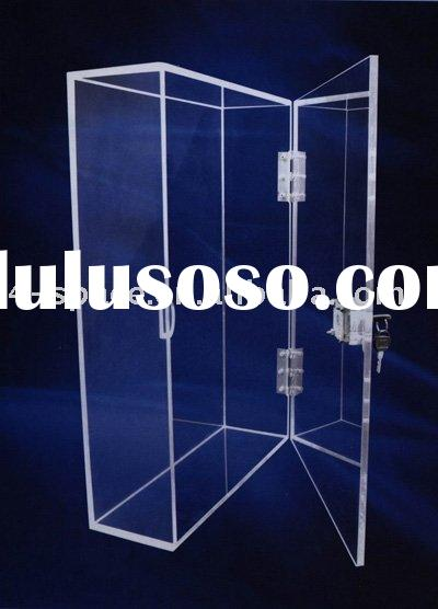 Acrylic display case with lock