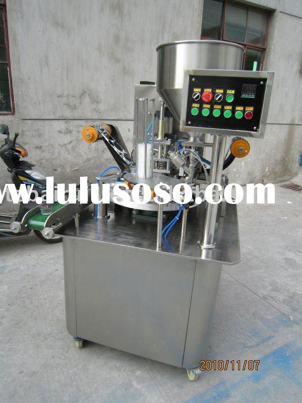 Automatic apple sauce filling and sealing machine
