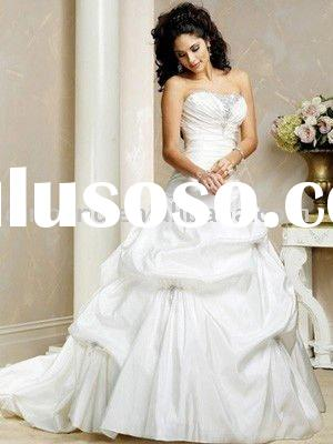 Ball Gown Strapless Dropped Waist Wedding Dress 2011 New Style HWD0130S