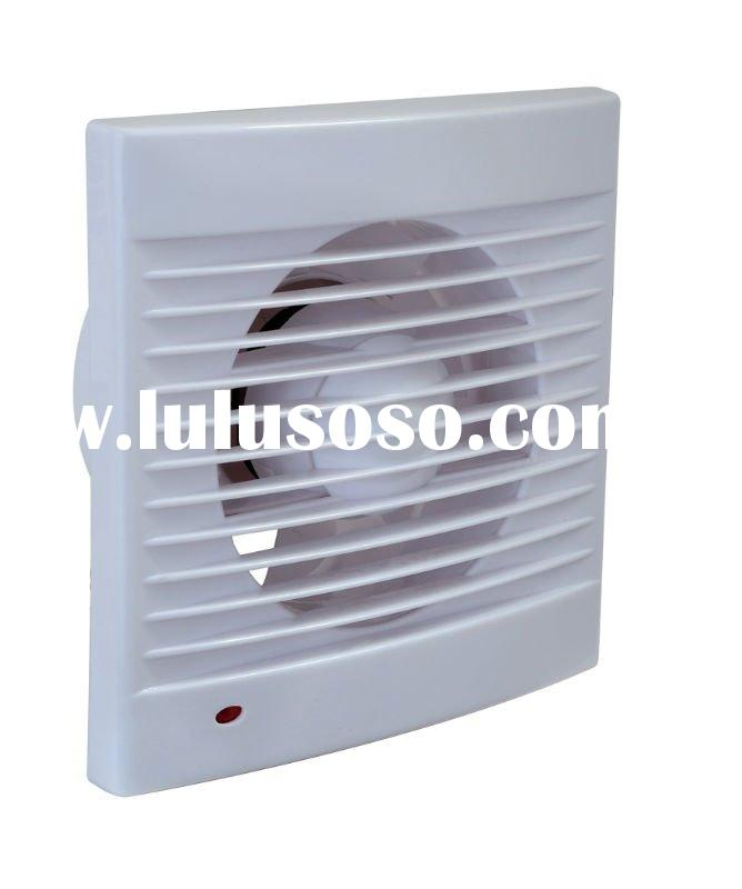Bathroom exhaust fan with lamp