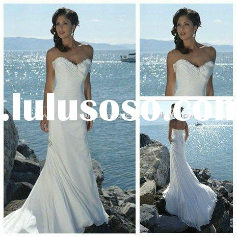 Beach Casual White Wedding Gowns and Bridal Dress 2011