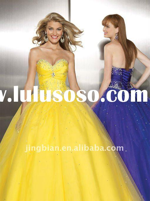 Beautiful Beaded Long Gown Romantic Tony bowls Evening Dress 2011 Pop Style Dazzing ball gown Prom D