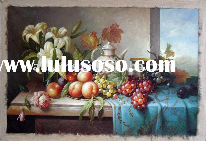 Beautiful fruit still life decoration oil painting in 2011