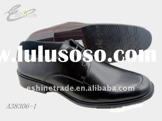 Black Lace-Up Leather Dress Shoes--Men Leather Dress shoes