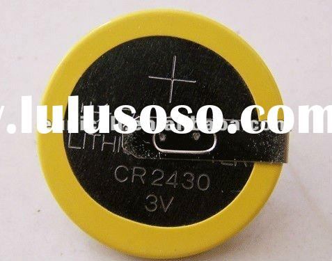 CR2430-HC3Y 3V coin cell lithium pins tabs battery,CR2430 pins battery