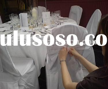 C-004 Wedding poly/ cotton banquet chair covers
