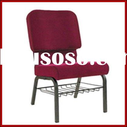 Cheap metal used church chairs with book rack
