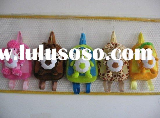 Children stuffed and plush animal toy shape backpack and bag