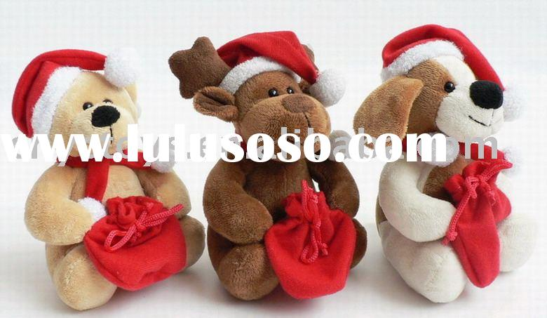 Christmas Plush Toys, Plush Bear,Plush Moose,Plush Dog