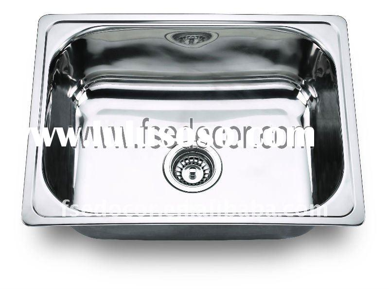 Chromed Single bowl Stainless Steel Kitchen Wash Basin Sink with CUPC(FSE-SS-2201)
