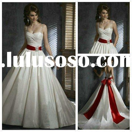 Colored Ball Gown Wedding Dresses Removable Skirt 2011