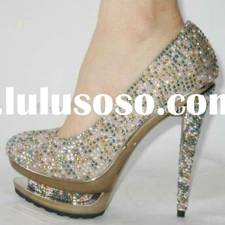 Colorful Sequin High Heel Ladies Dress Shoes