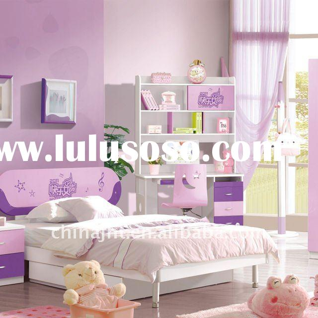 Colorful wooden children bedroom furniture