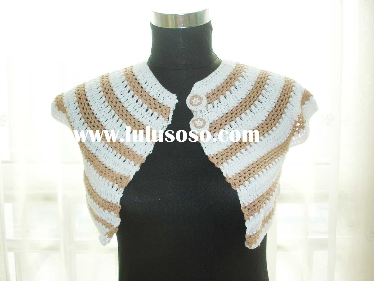 DD12005 Handmade crochet fashion clothes sweater garment lady's vest shawl