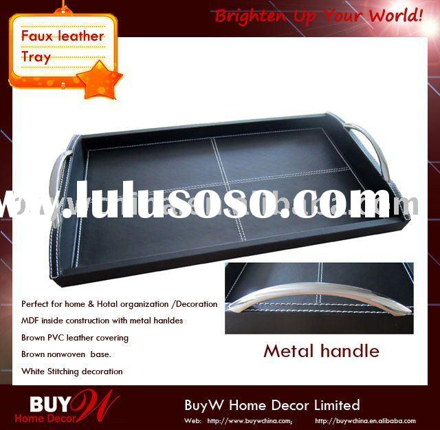 Decorative PVC faux leather Serving TRAY