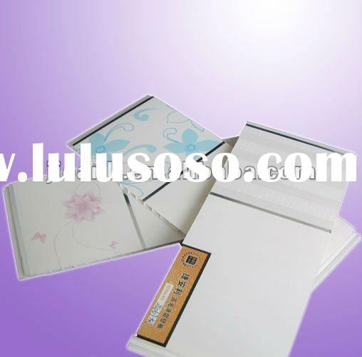 Decorative kitchen plastic pvc ceiling tiles 250*9mm