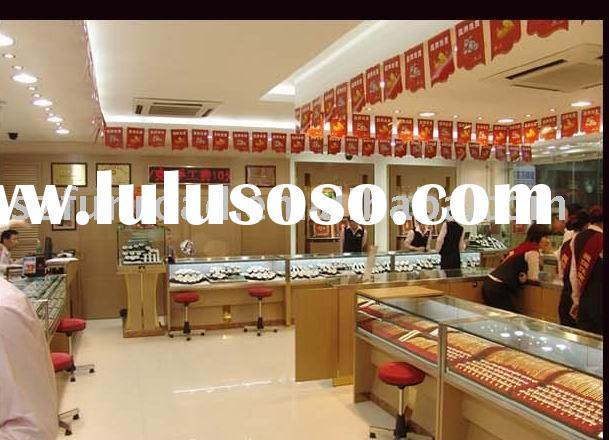 Design And Made Tempered Glass Window Display Case Showcase And Cabinet For Jewelry And Watch