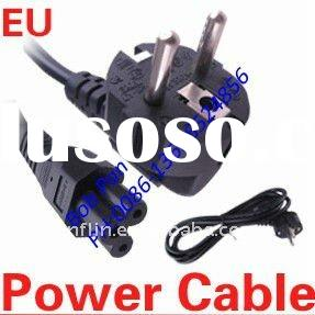 EU 3-Prong AC Power Cord 3Pin Laptop Adapter Cable