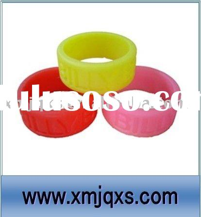Eco-friendly silicone custom finger rings with factory price