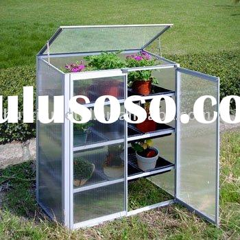 Eden lean-to greenhouse/garden polycarbonate aluminum and polycarbonate/aluminium cold frame/greenho