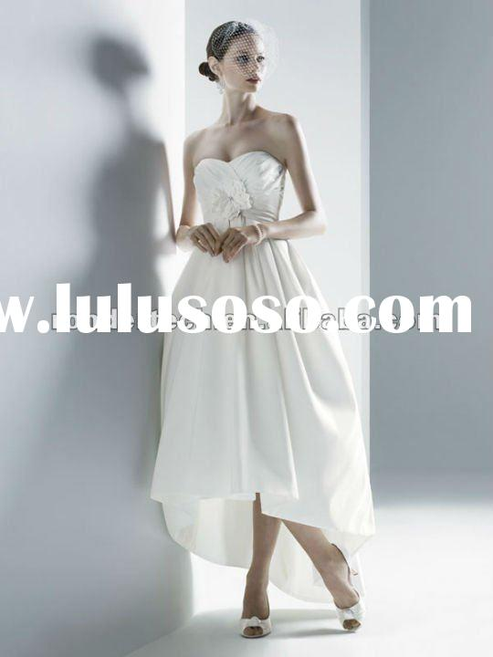 Elegant Ball Gown Ivory Strapless Modern Tea Applique Beading Short bridal changing dresses