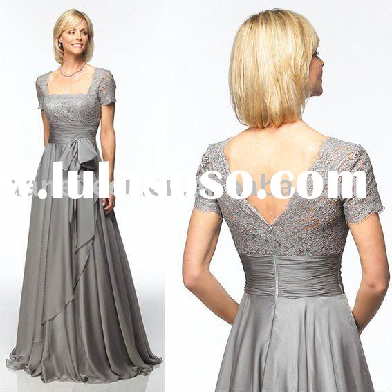 Elegant Short Sleeve Cheap High Quality Evening Wear/Dress,Prom Dress,Bridesmaid Dress-DE-EL0394