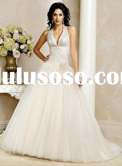 2011 New Arrival Off shoulder Ruffle Handwork Wedding Dress Patterns