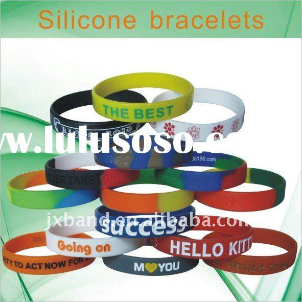 Factory Cheap Custom Silicone Bracelets,LOW MOQ
