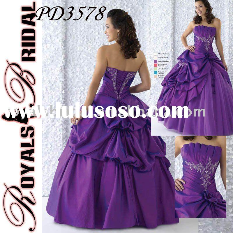 Fashion Ball Gown Purple Prom Dress