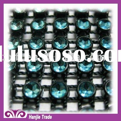Fashion Plastic Rhinestone Crystal Trimming Mesh