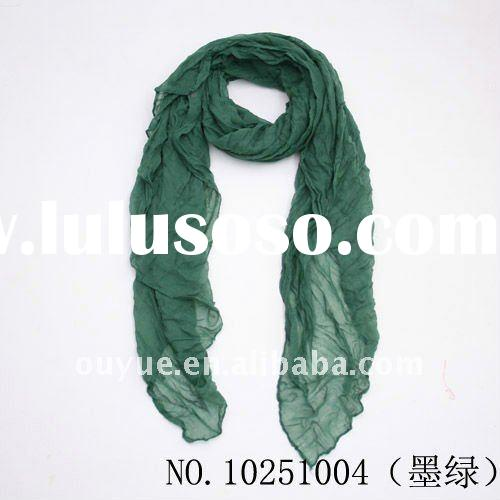 Fashion cotton voile fabric scarf,2012Hot-selling,Newest design