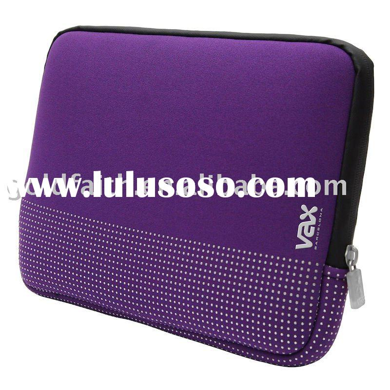 Fashionable colorful Neoprene laptop sleeve case with dot printing antiskid