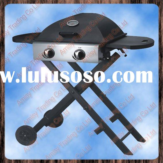 Folding Outdoor 2-Burner Gas BBQ Grill