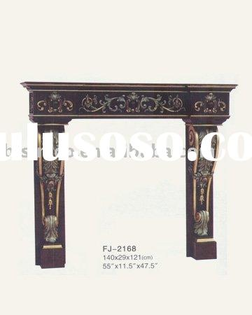 French provincial solid wood fireplace,European mantel,solid wood furniture