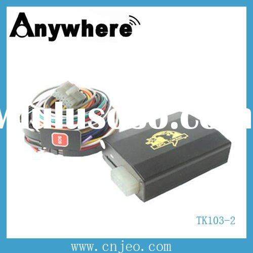 GPS car alarm TK103-2,remote control,free software,overspeed/theft alert,real time tracking,monitor