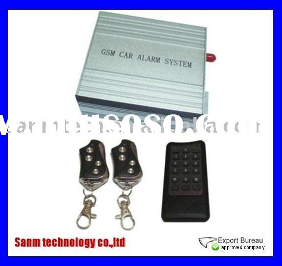 GSM car alarm system,Control car with SMS or voice,Built-in GSM module and trunk release