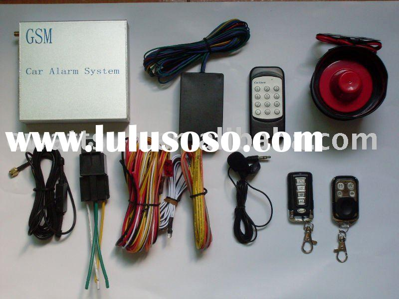GSM car alarm with remote starter