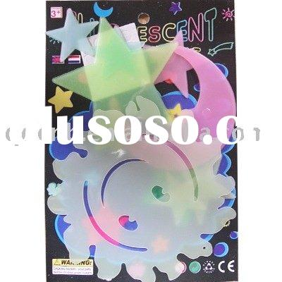 Glowing sticker,Glow in dark sticker,Glow-in-dark sticker Sun Moon Star