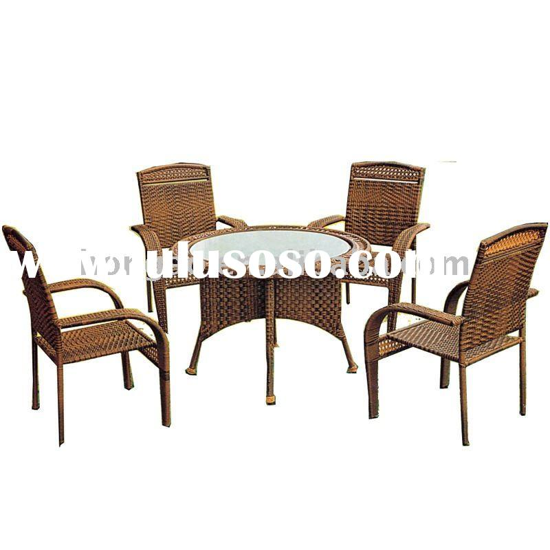 HA-223 antique outdoor rattan garden furniture,rattan chair&table ,outdoor furniture