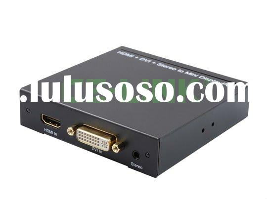 HDMI + DVI + R/L to Mini Displayport Converter