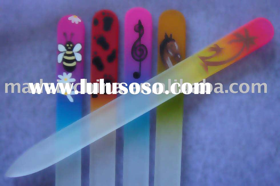 Hand Painted Crystal Glass Nail Files