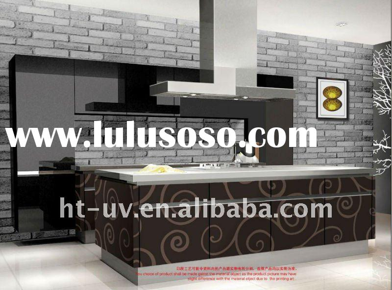 High Glossy UV Color Painting Kitchen Cabinet