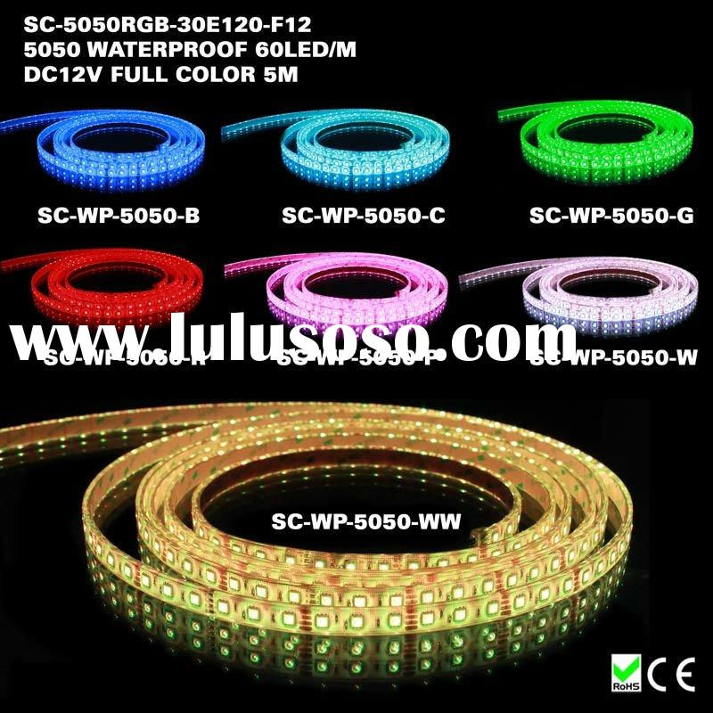 High output dmx rgb waterproof led rope tape light