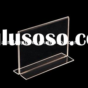 Horizontal Double Sided, Stand Up Acrylic Sign Holder