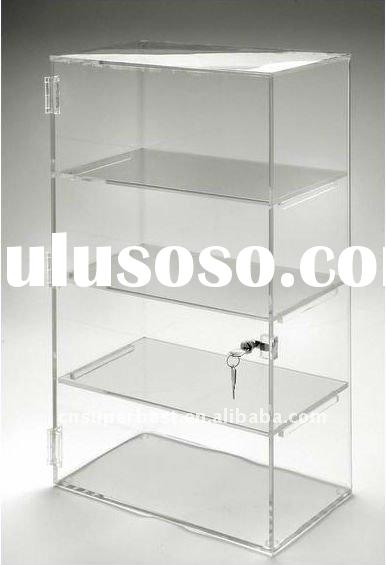 Hot sale clear acrylic display case with lock