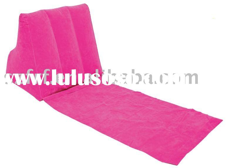Inflatable Travel Lounge Pillow with mat,Inflatable Travel Backrest,Inflatable wedge beach chair